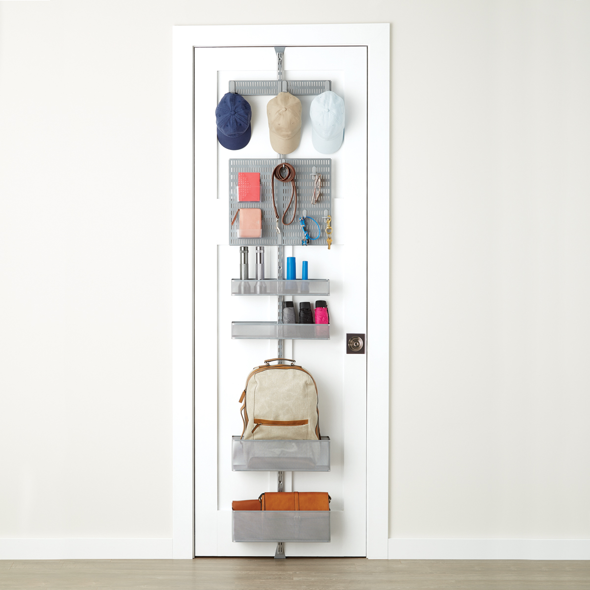Elfa Storage System Platinum Elfa Utility Mesh Entry Door And Wall Rack The