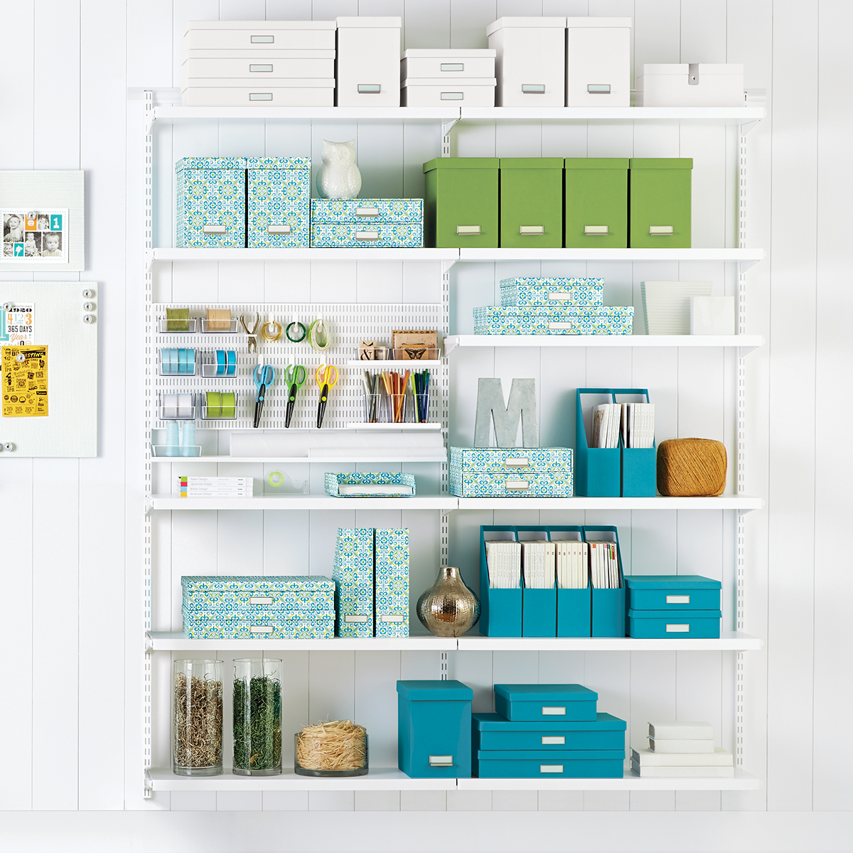 Elfa Storage System White Elfa Craft Room Shelving The Container Store