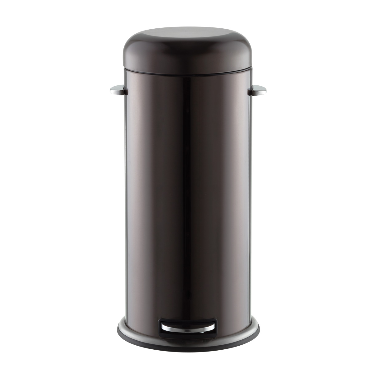 Black Metal Trash Can Black Stainless Steel 8 Gal Retro Trash Can The