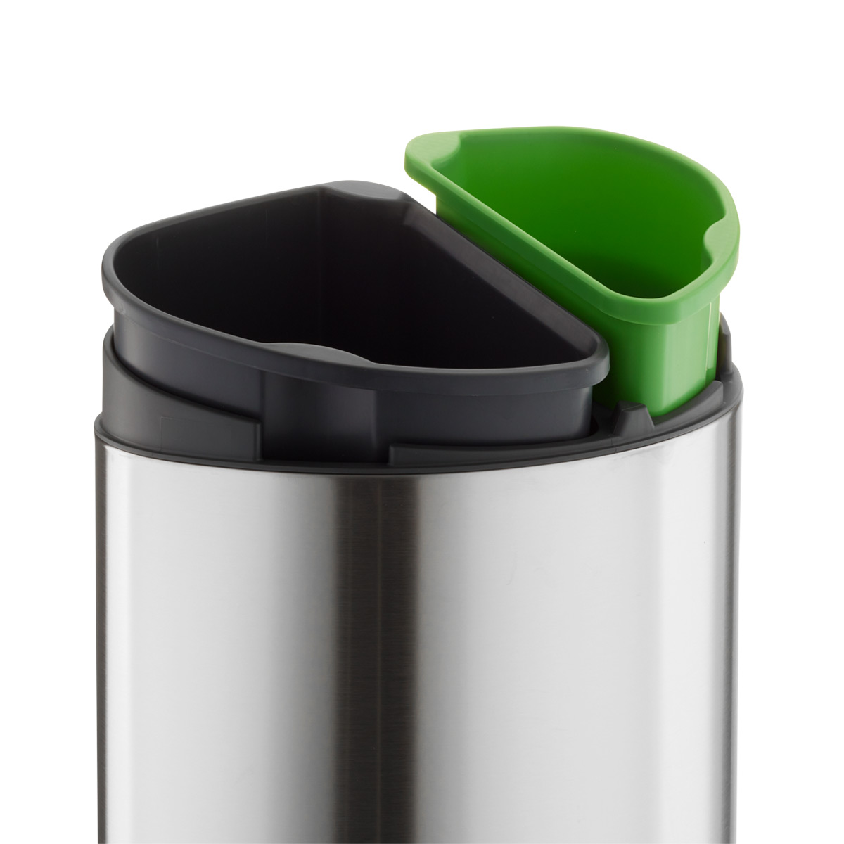 Stainless Steel Recycling Bins Brabantia Stainless Steel 8 6 Gal 33l Touch Top Dual Recycle Bin