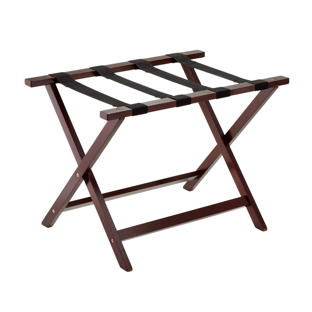 Java Wood Luggage Rack The Container Store
