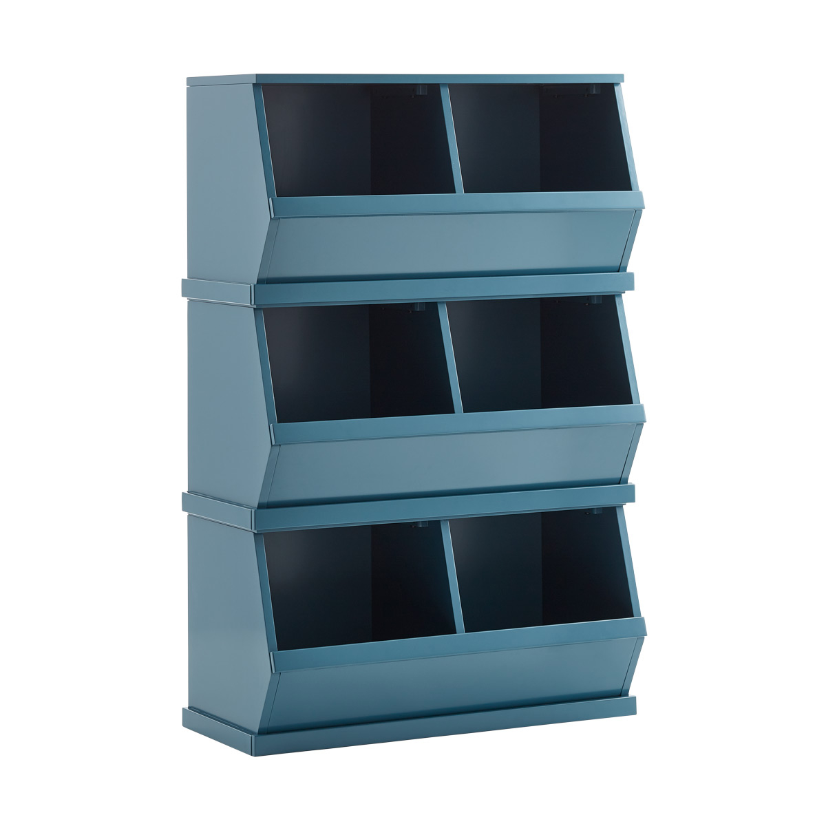Stackable Storage Bins Blue Nantucket Stackable Storage Bin The Container Store