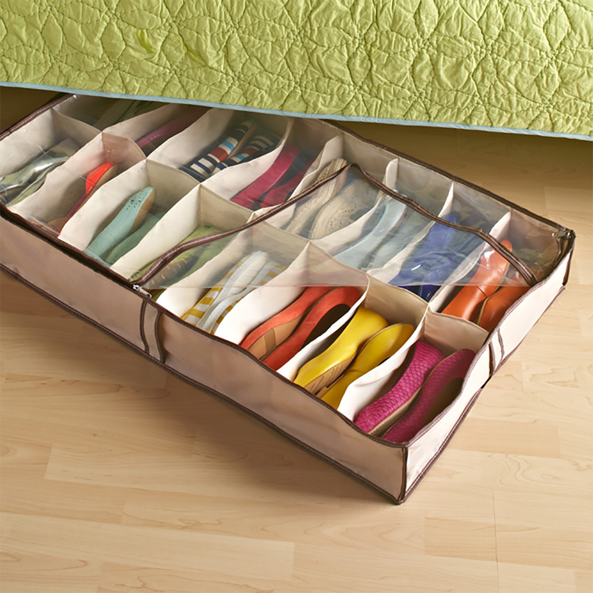 Under Bed Shoe Storage Tweed 16 Pair Underbed Shoe