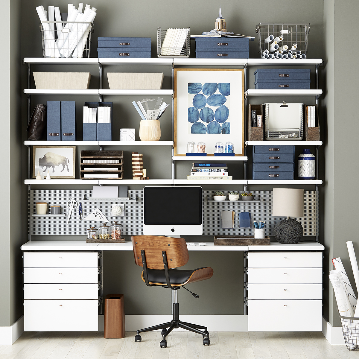 Elfa Storage System White Elfa Décor Drawer Frames And Fronts The Container Store