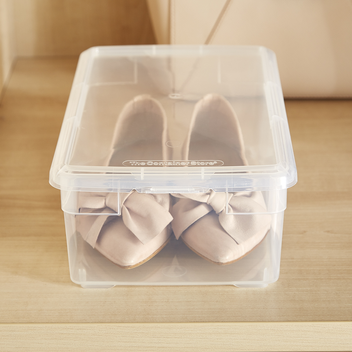 Shoe Box Our Clear Plastic Shoe Box The Container Store