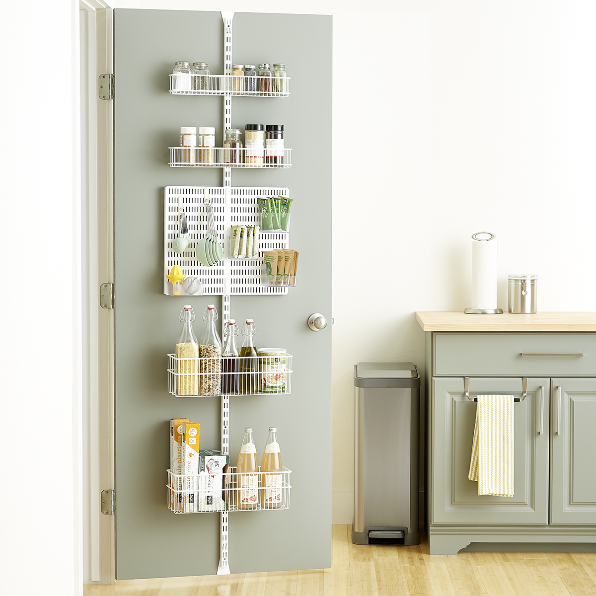 Elfa Storage System Elfa Utility White Wire Kitchen Door And Wall Rack The
