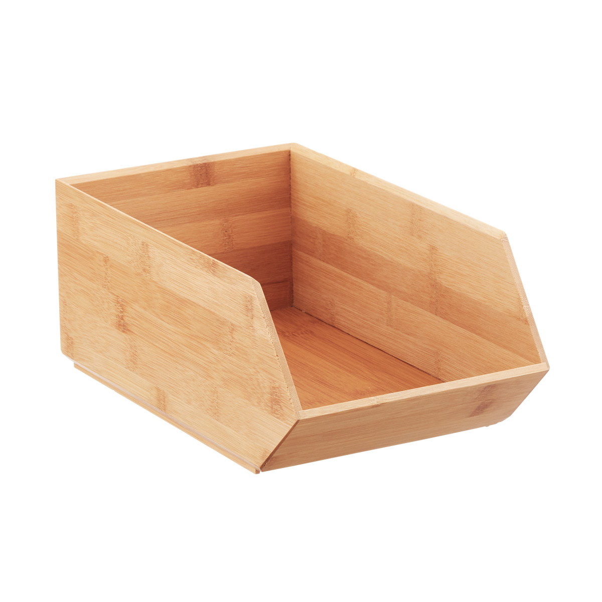 Stackable Storage Bins Stackable Bamboo Storage Bins The Container Store