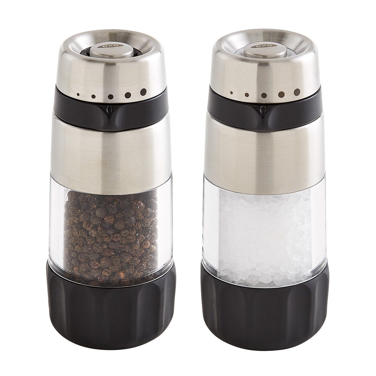 Unique Salt And Pepper Grinders Oxo Good Grips Salt And Pepper Grinders The Container Store