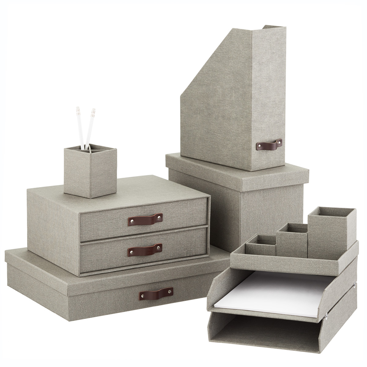 Desk Top Drawers Bigso Marten Grey Paper Drawers