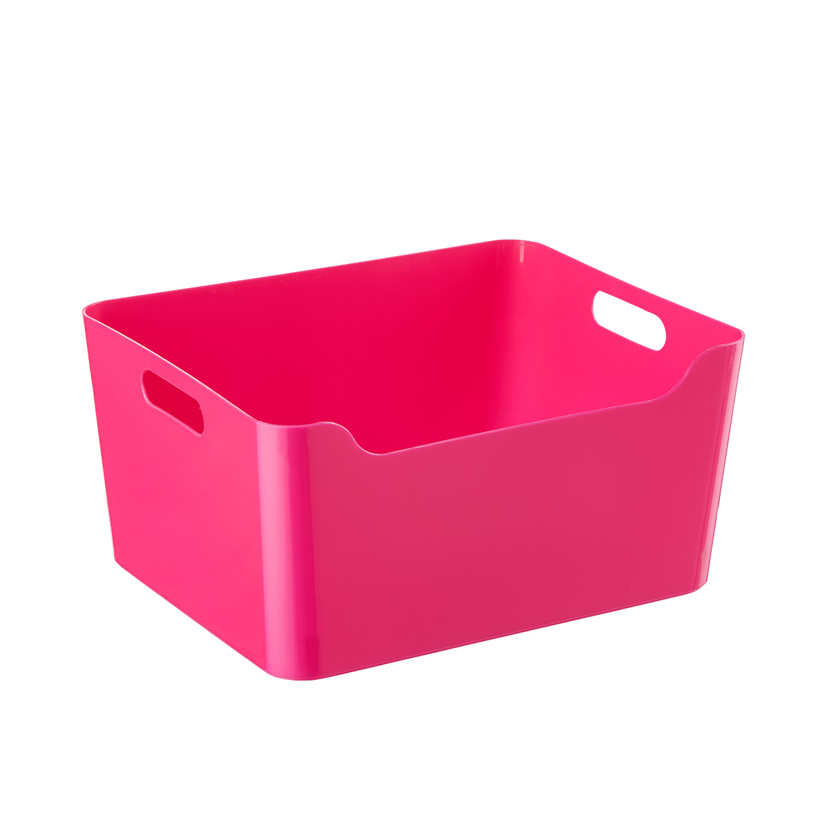Pink Bins Fuschia Plastic Storage Bins With Handles