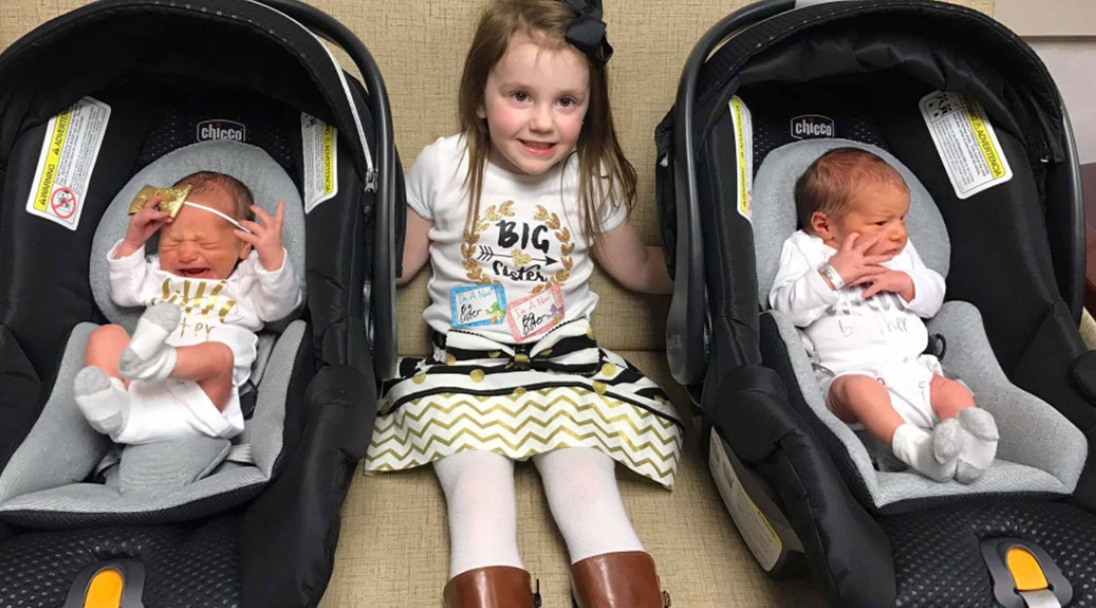Maxi Cosi Car Seat Infant Big Sister Reacts To Crying Twins In Car Seats Video