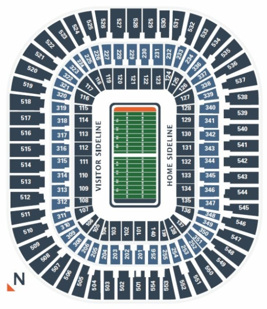 Carolina Panthers Seating Chart at Bank of America Stadium