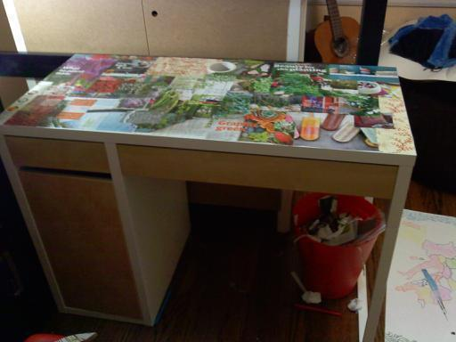Decoupage Desk How To Make A Table Decorating Resin