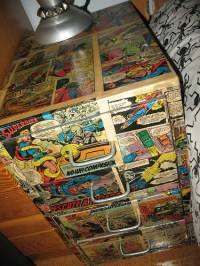 Comic Bedside Table  A Bedside Table  Decoupage on Cut ...