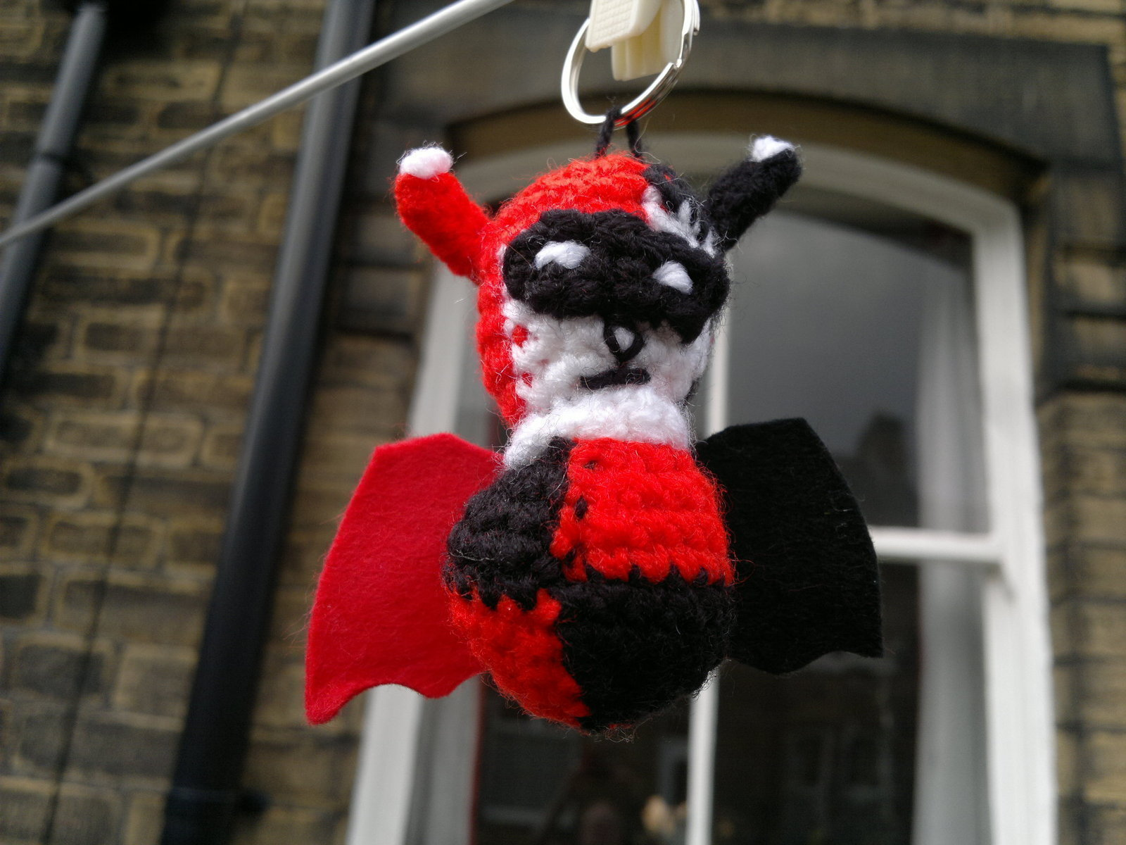 Joker Make Up Harley Quinn Bat Keyring · How To Stitch A Knit Or Crochet