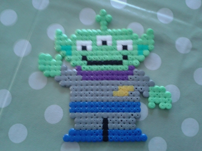 Cute Shoes Wallpaper Toy Story Alien In Hama Beads 183 A Beaded Character 183 Art