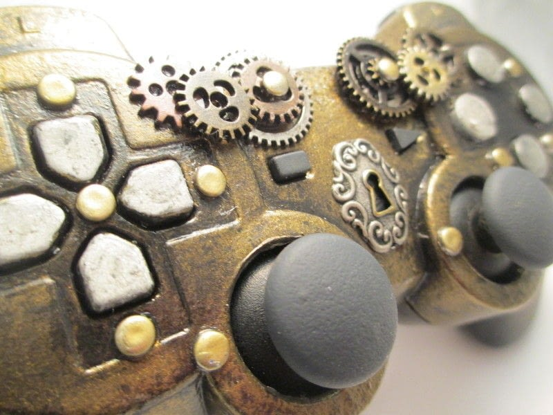 Cut Hair In Dream Steampunk Ps3 Controller · A Games Consoles Mini