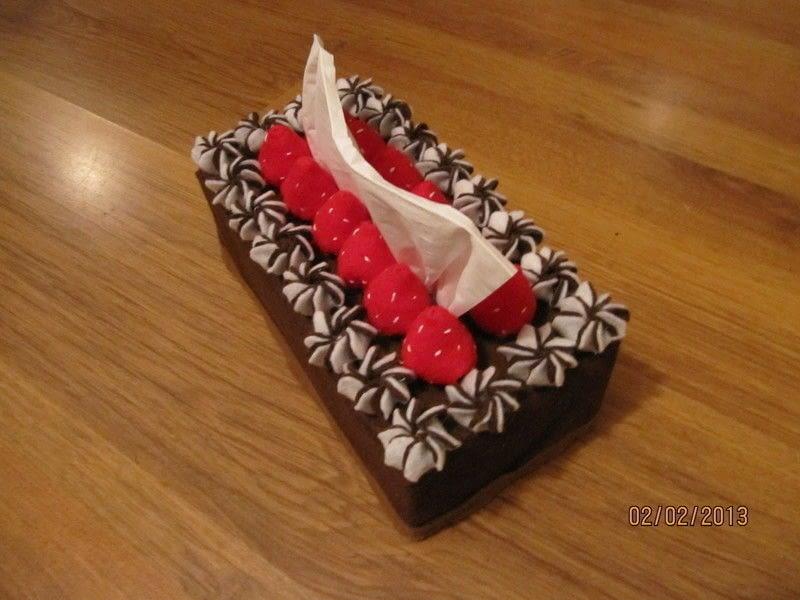 Chocolate Tissue Cake Box Tutorial A Tissues Holder