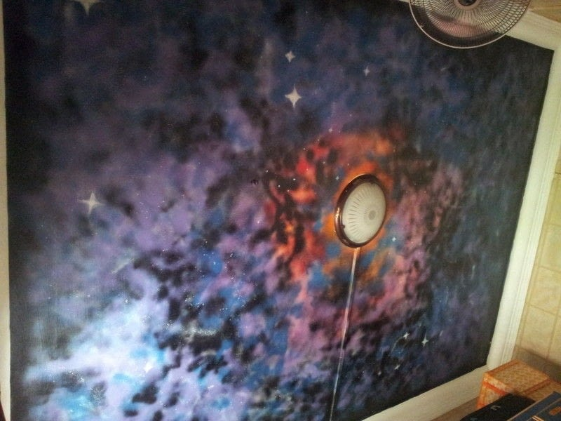 Blue Animal Print Wallpaper Galaxy Ceiling 183 Wallpaper A Wall Painting 183 Spray
