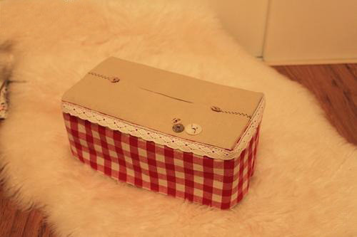 Red Makeup Box Diy Cute Tissue Box In Red · How To Make A Tissues Holder