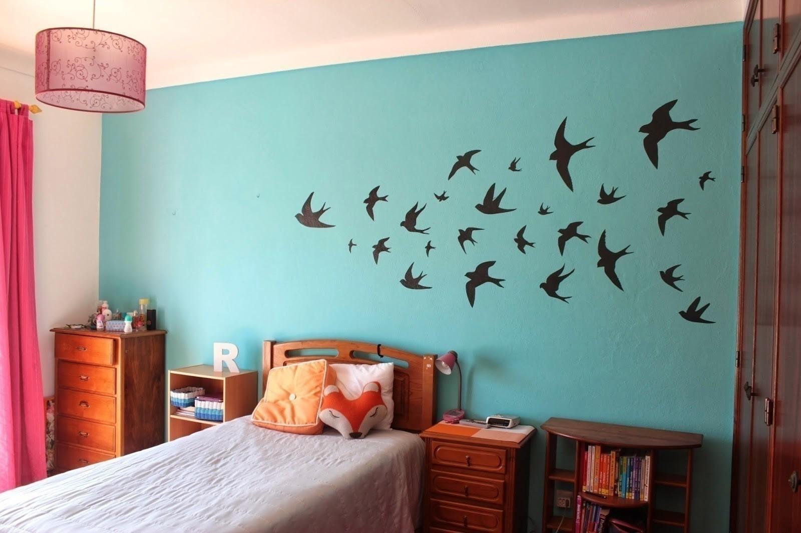 Wallpaper Teenage Girl Bedroom Swallows Wall Decor 183 How To Make Wallpaper A Wall