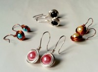 Simple Wire Wrapped Earrings  How To Make A Pair Of Wire ...