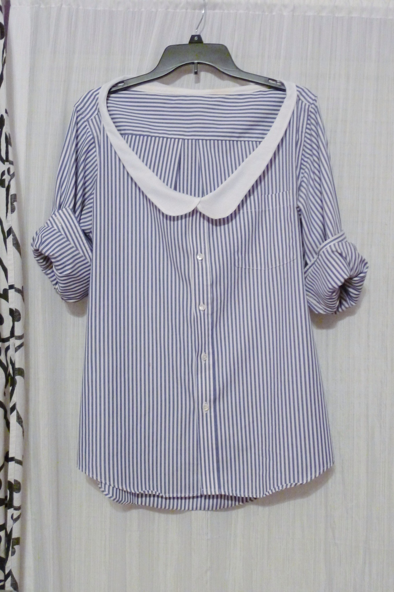 Straight Hair Cutting Video Thrifted Mens Shirt With Diy Peter Pan Collar · How To