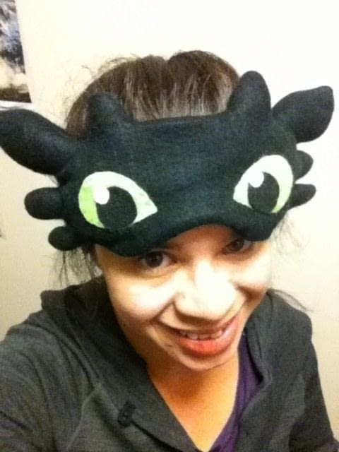Cut Hair In Dream Toothless Sleeping Mask · How To Make A Sleeping Mask