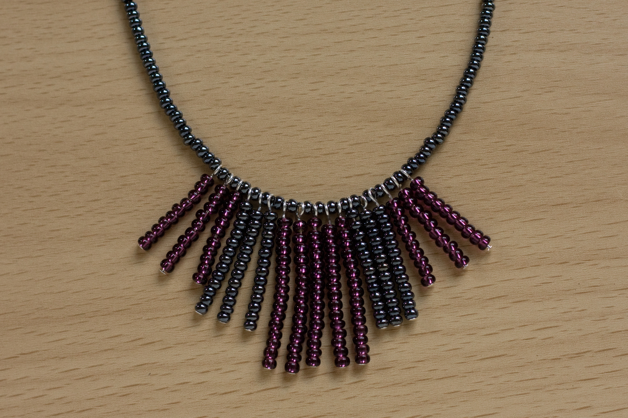 Seed Bead Fringe Necklace How To Bead A Beaded Tassel