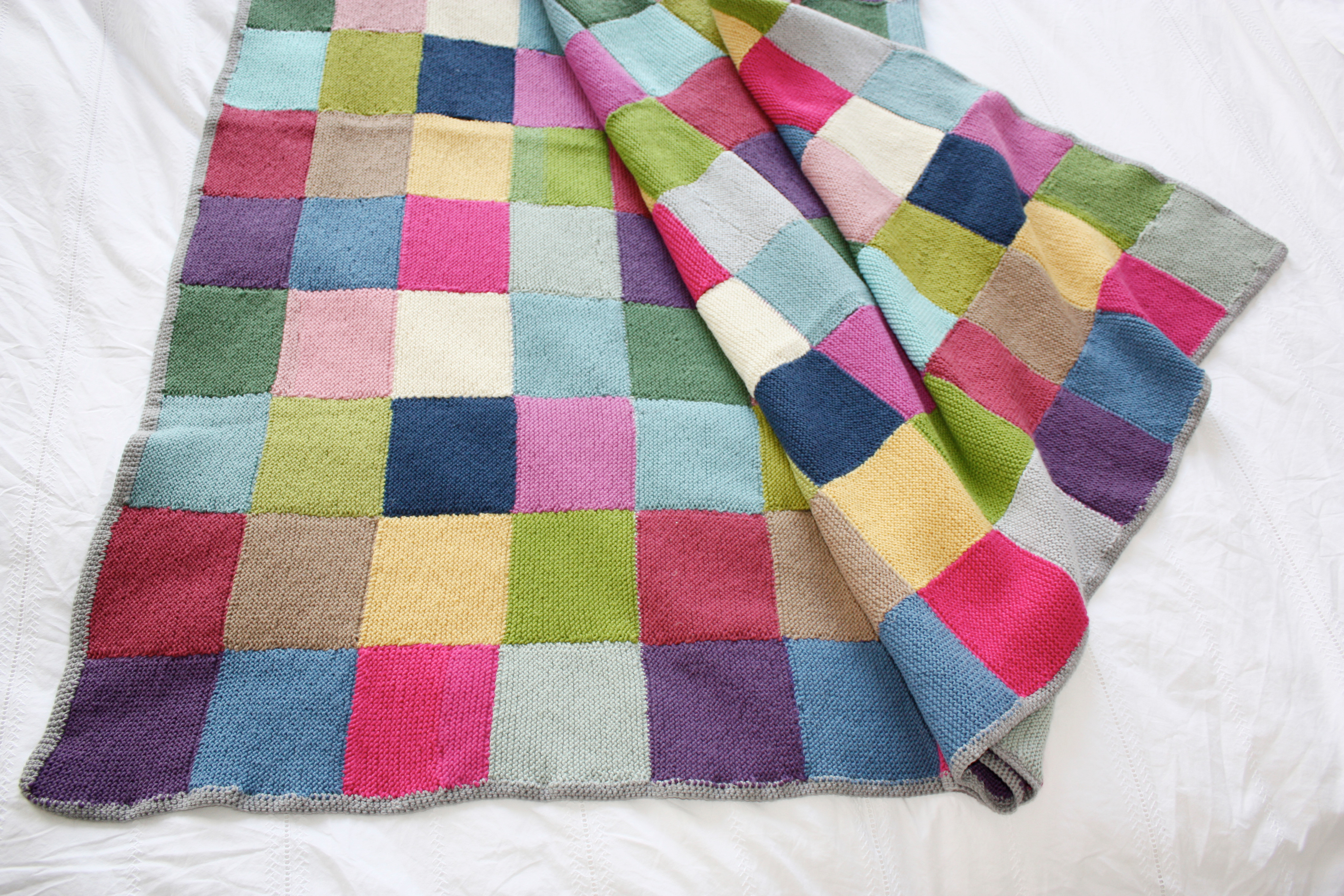 Photo Patchwork Patchwork Blanket · Extract From Winter Knits Made Easy By