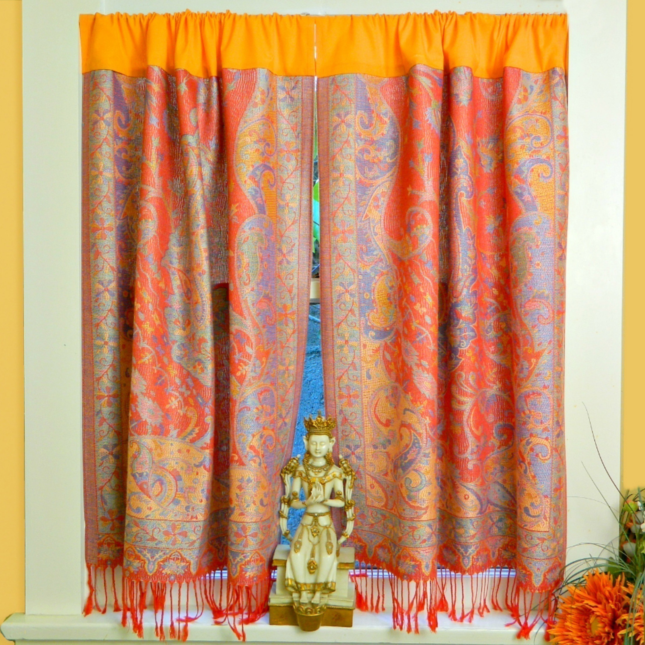 Make Curtains No Sew Boho Curtains How To Make A Curtain Blinds Sewing On