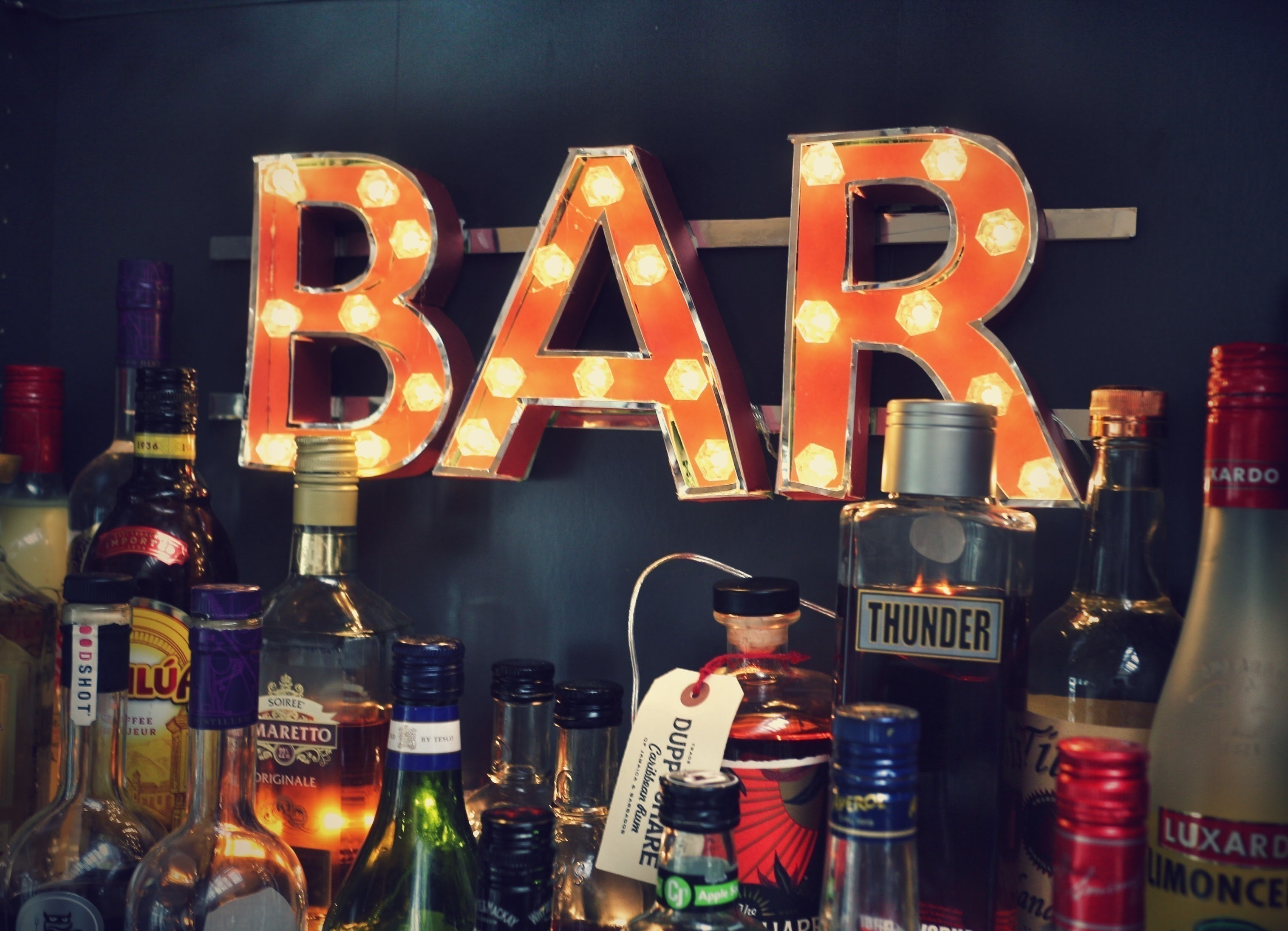 Ikea Food Storage Marquee Bar Sign · How To Make A Letter · Papercraft On