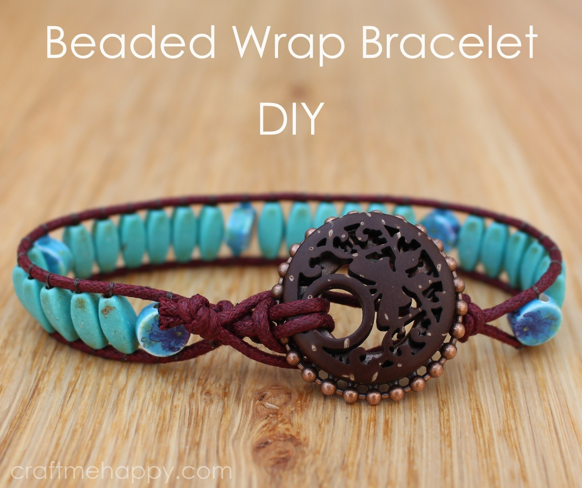 Beaded Wrap Bracelet Using Blueberry Cove Beads How To