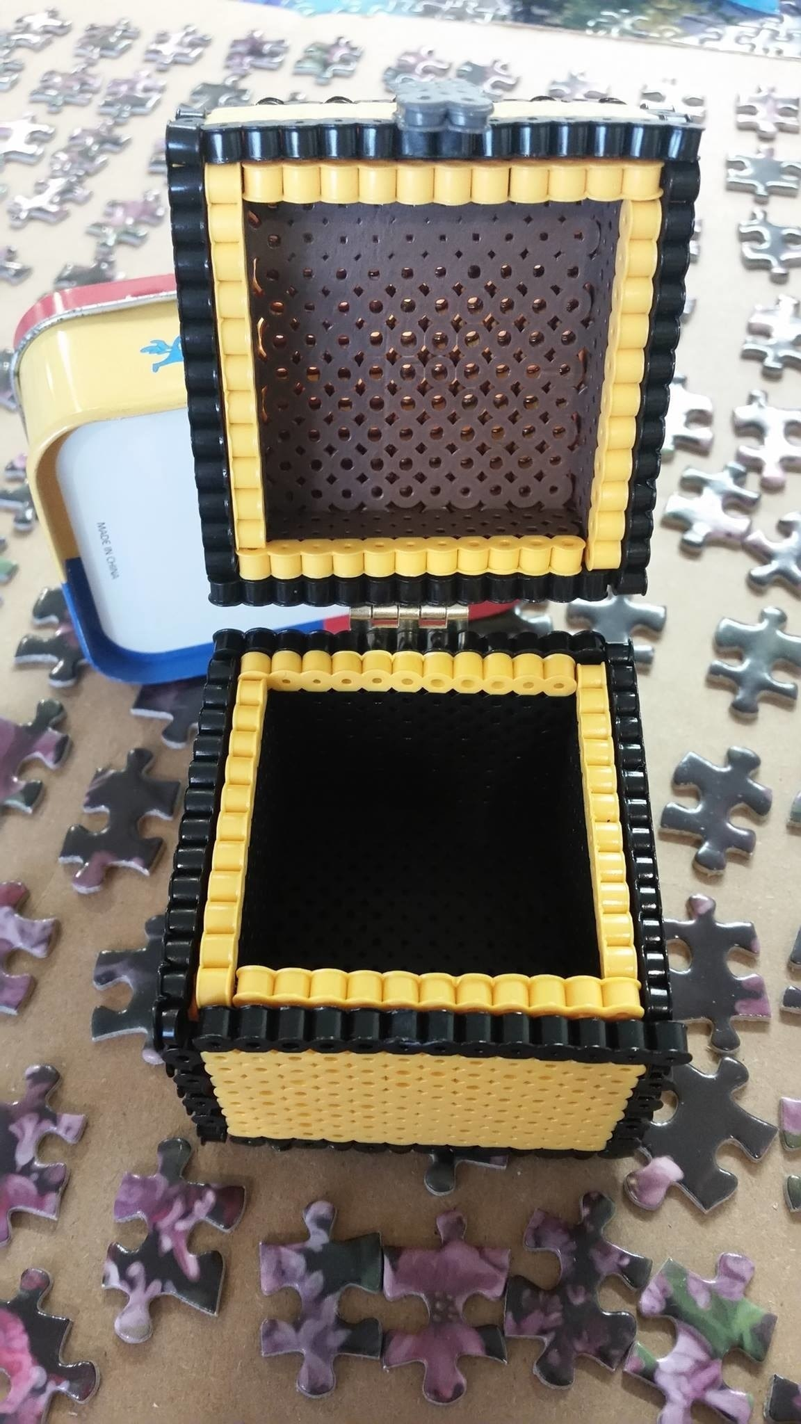 Chest Game Set Perler Bead Chest How To Make A Pegboard Bead Box