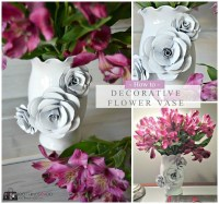Create A Decorative Flower Vase... With Paper!  How To ...