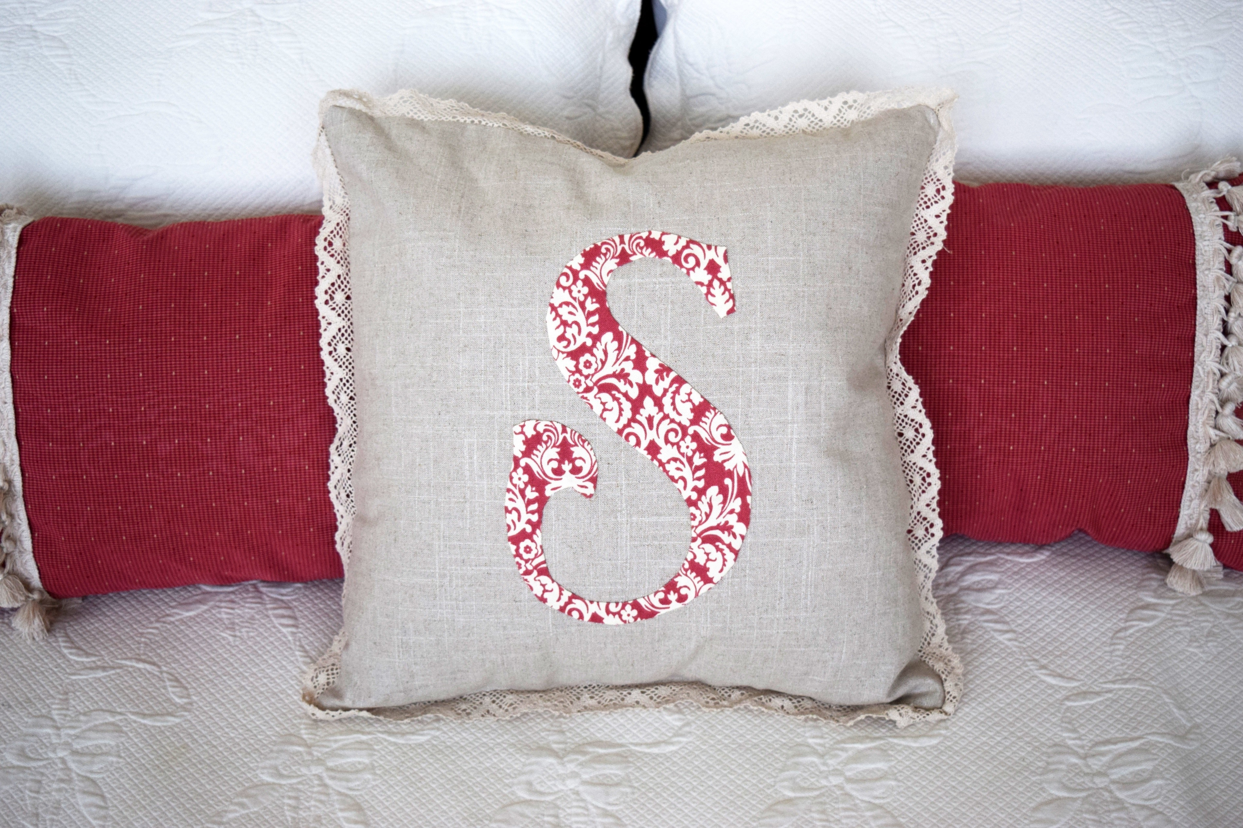 pillow monogram