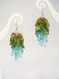Dangling Cluster Earrings  How To Make A Dangle Earring ...