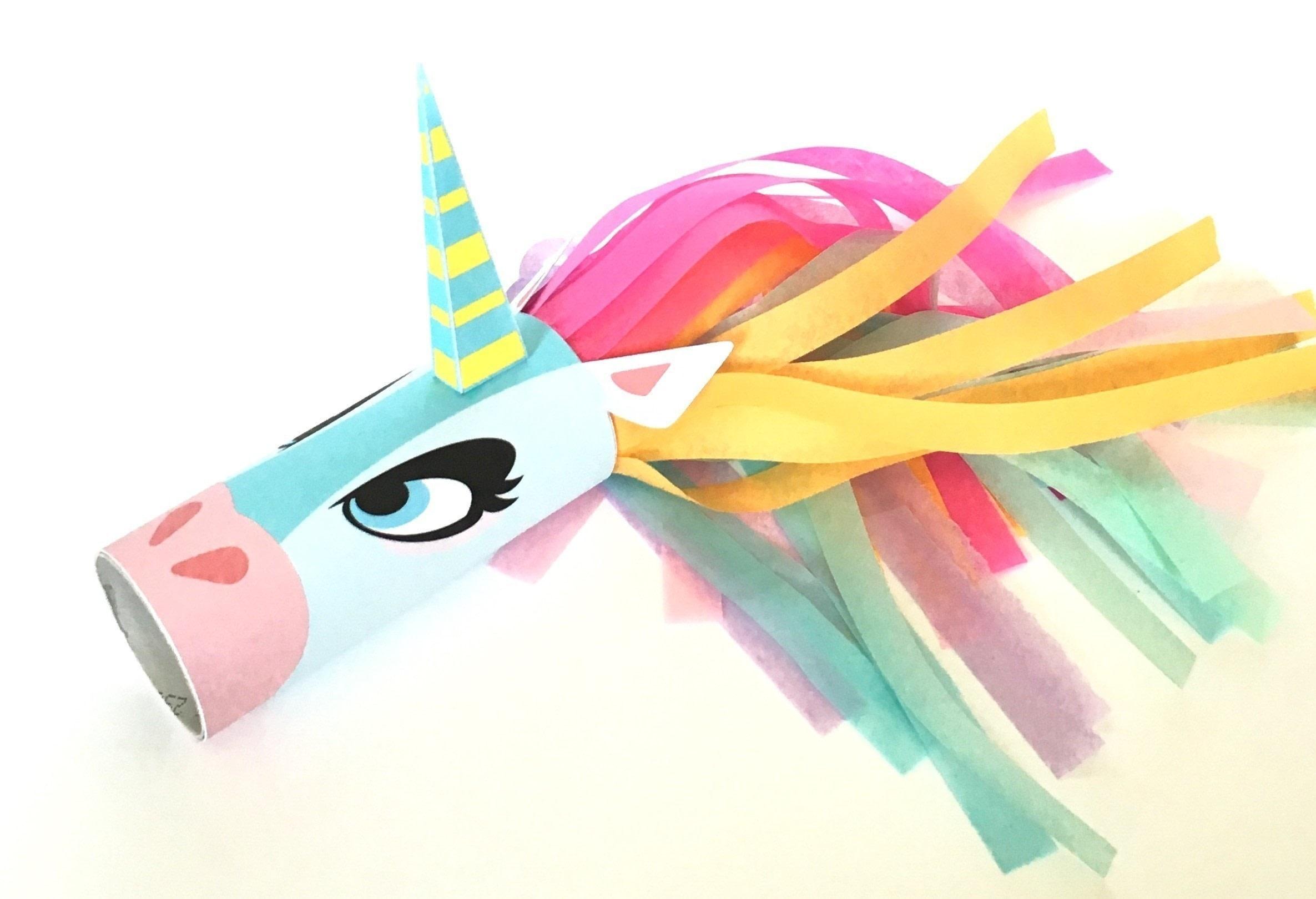 Unicorn Head Toilet Tube Craft Printable How To Make A
