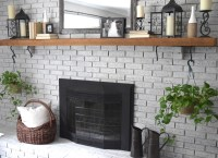 How To Whitewash Your Brick Fireplace  How To Make A ...