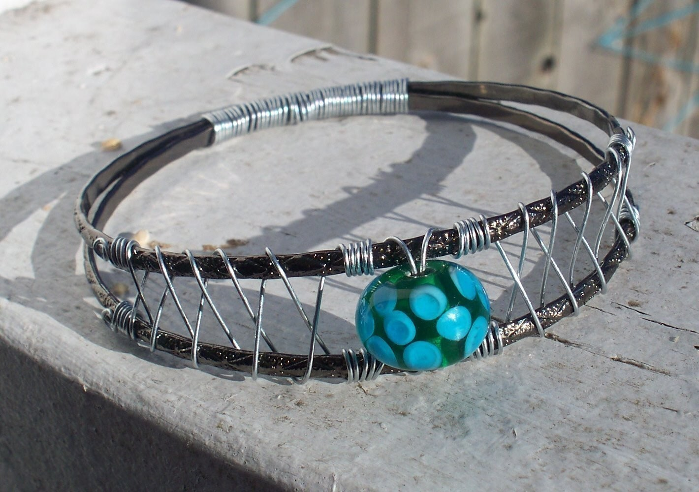 Woven Wire Bangle Bracelet How To Make A Wire Bracelet