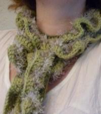 Crochet Crinkle Scarfs  How To Stitch A Ruffle Stitch ...