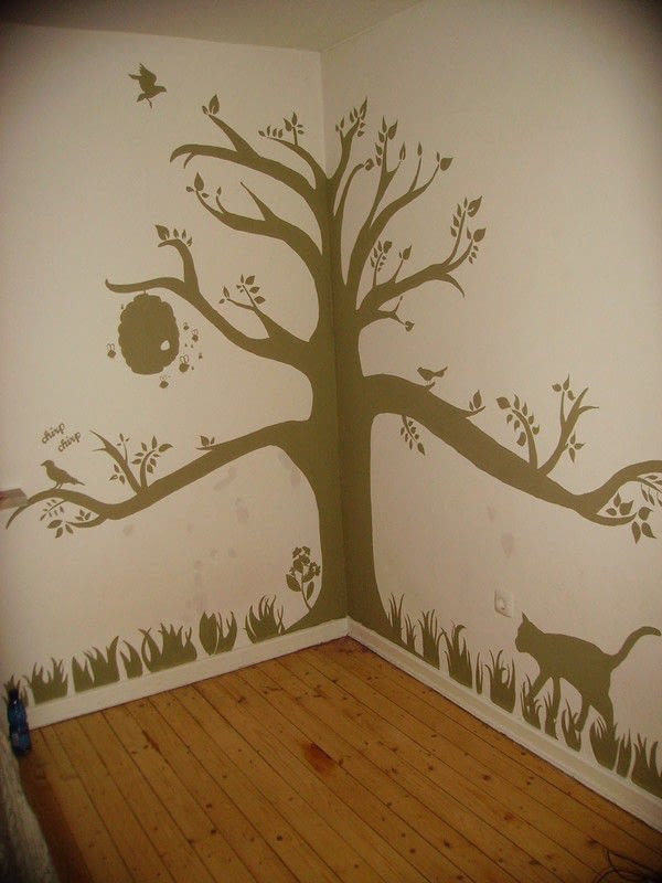Animal House Wallpaper Grow A Tree On Your Wall 183 How To Make Wallpaper A Wall
