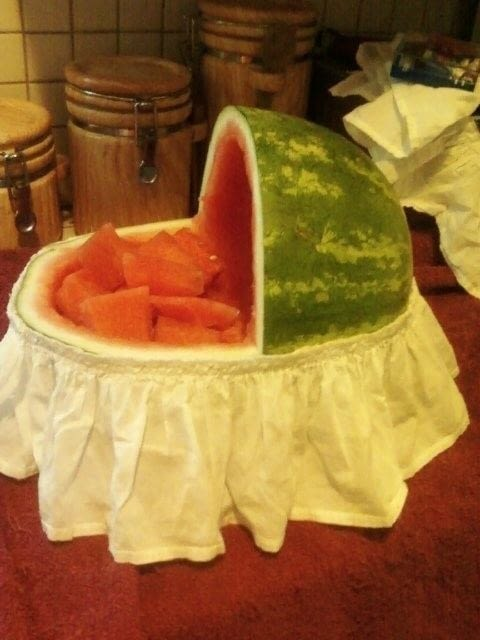 Art E Decoration Watermelon Bassinet · A Fruit Dessert · Food Decoration