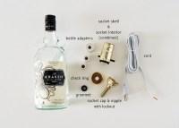 Diy Liquor Bottle Lamp  How To Make A Bottle Lamp  Home ...