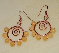 How To Make Spiraled Bead And Wire Earrings  How To Make ...