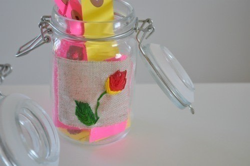 Diy Embroidered Jar Labels · How To Make A Packaging Labels