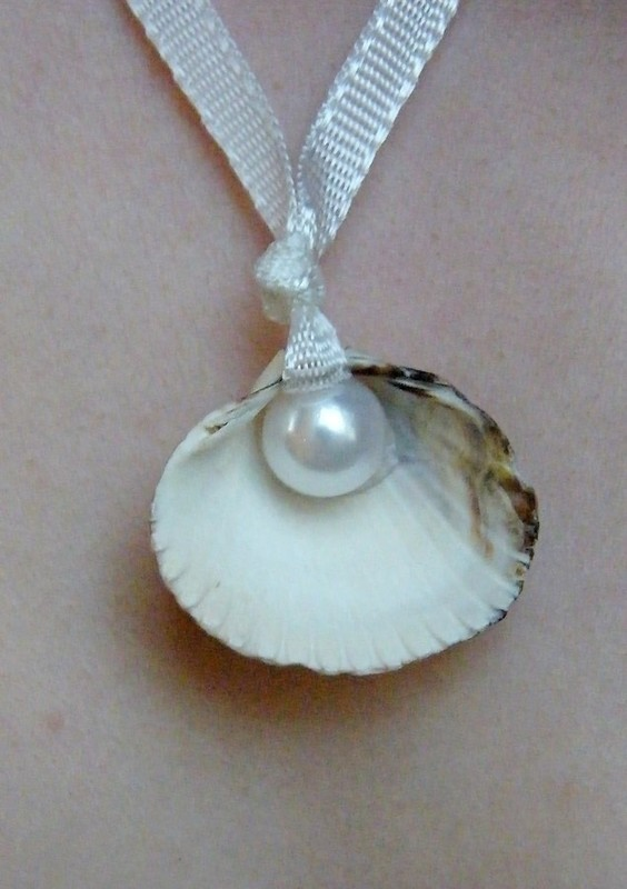Sea Shell Pearl Necklace How To Make A Shell Necklace