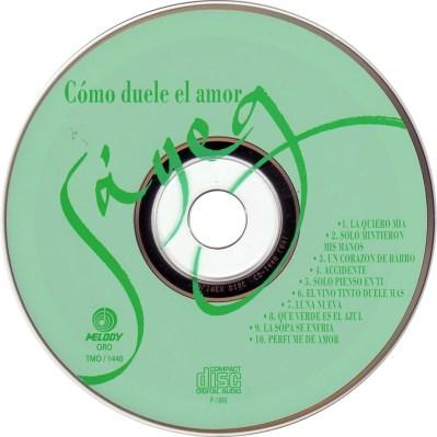 Carátula Cd de Sayeg - Como Duele El Amor - Portada