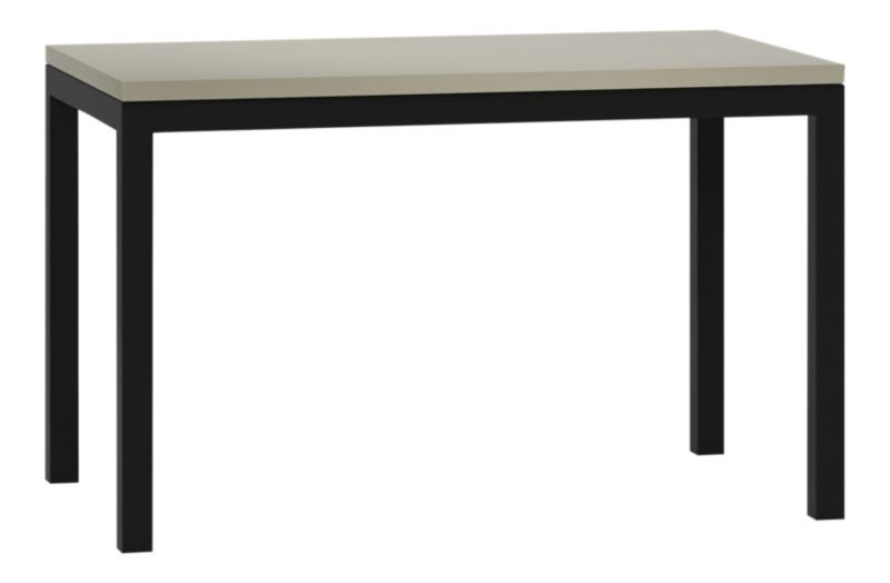 Parsons Grey Solid Surface Top Dark Steel Base Dining
