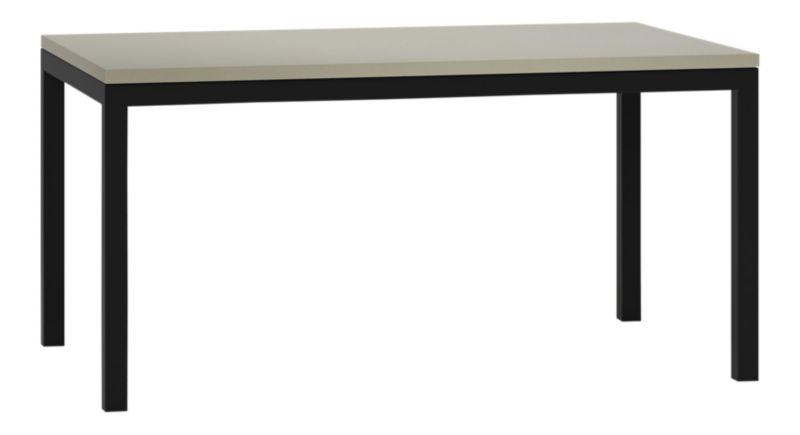 Parsons Grey Solid Surface Top Dark Steel Base 60x36
